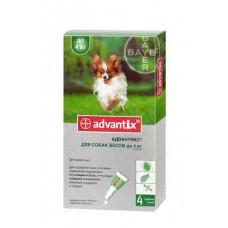 Bayer Advantix до 4кг. (Адвантикс) капли п\п для собак 0.4мл.