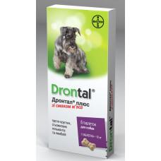 Bayer Drontal (Дронтал плюс) для собак с вкусом мяса