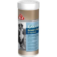 8in1 Excel Brewers Yeast витамины для собак крупных пород 80таб/300ml.