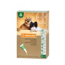 Bayer Advocat до 4кг. (Адвокат) капли п\п для собак 0.4мл.